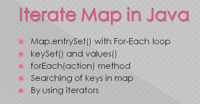 Iterate Map in Java