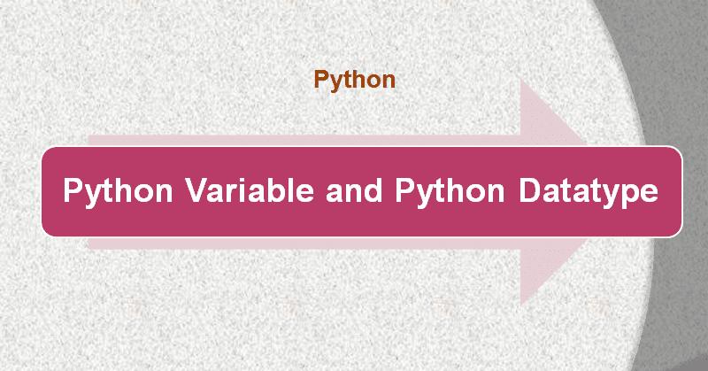 Python Variable and Python Datatype