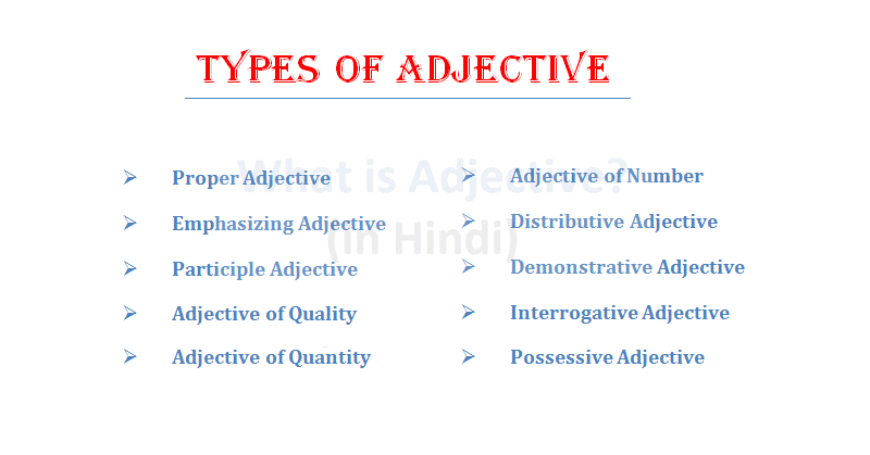 What is Adjective in Hindi (विशेषण क्या है?)